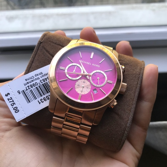 264dceab6 Michael Kors Accessories | Pink And Rose Gold Authentic Watch | Poshmark